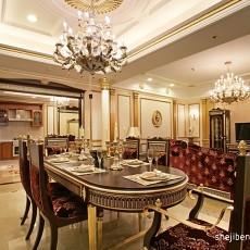 热门大小90平欧式三居餐厅实景图片大全