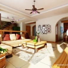 热门136平米美式复式客厅装修设计效果图片欣赏