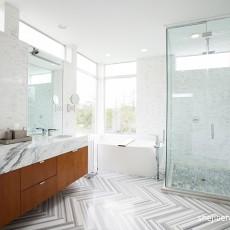 面积139平复式卫生间现代装修实景图片欣赏