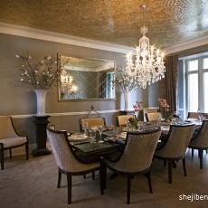 面积110平别墅餐厅欧式装修实景图片欣赏