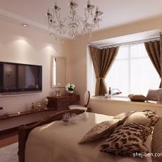 99平米三居卧室混搭效果图片