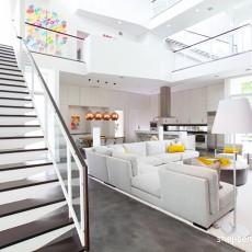 精选125平米现代复式客厅装饰图