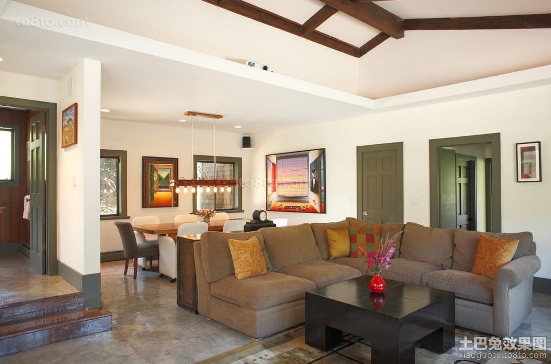 农村房屋现代简约室内客厅设计效果图
