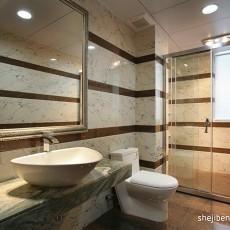 中式三居卫生间欣赏图