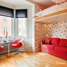 73平米现代小户型休闲区装修效果图片
