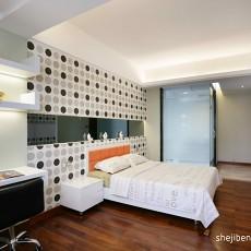 2018精选100平米三居卧室现代设计效果图