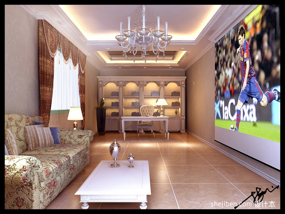 古典中式设计卧室装修效果图片