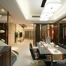 精美大小102平中式三居餐厅装修图