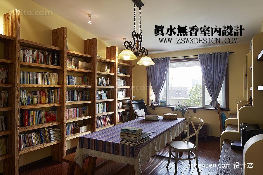 2013精选多功能书房书柜电脑桌装修效果图片