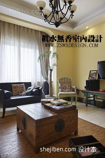 客厅沙发窗帘效果图片欣赏