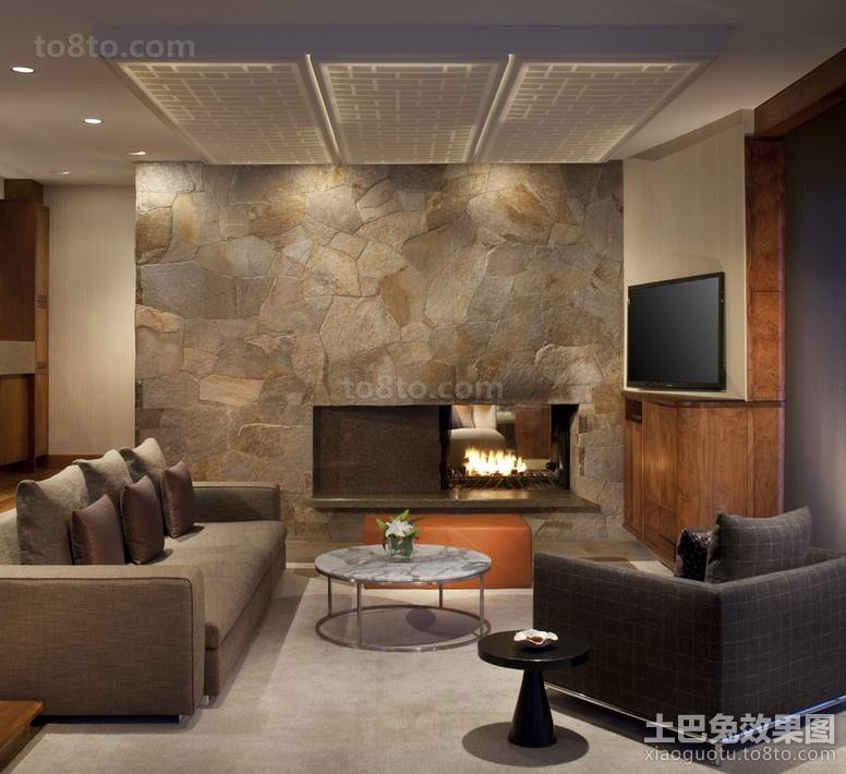 2012简约客厅电视背景墙装修效果图
