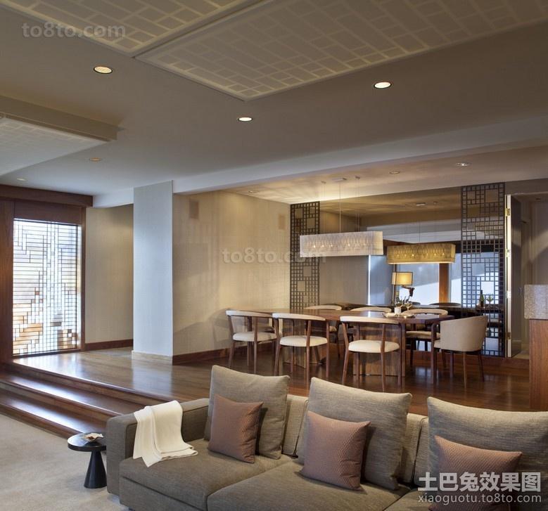 2012简约客厅餐厅一体化装修效果图