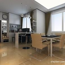 精选93平米三居餐厅现代装修效果图片欣赏