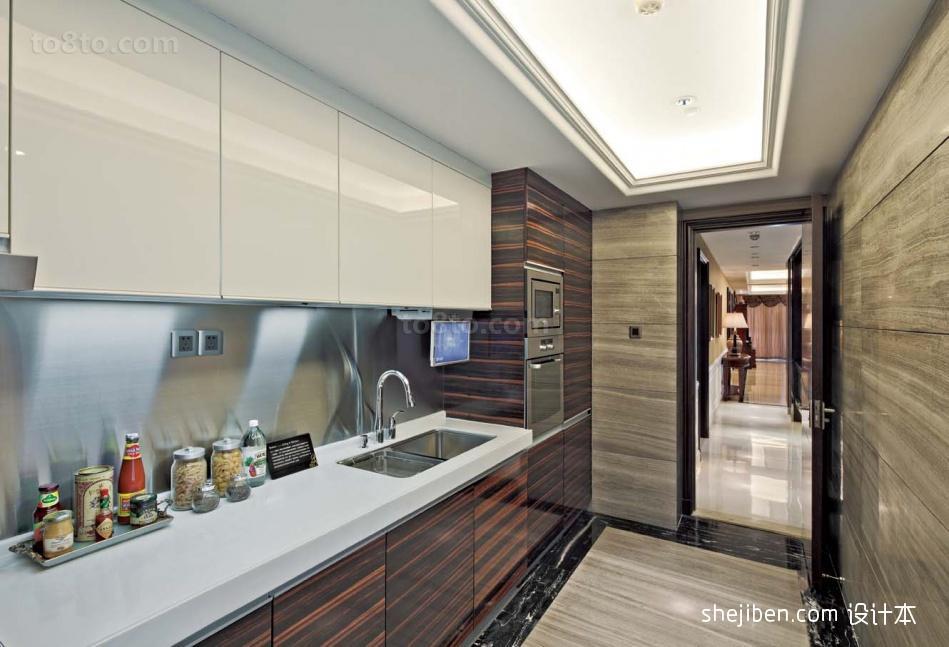 现代感灰色厨房装修效果图