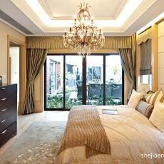 2018面积106平欧式三居卧室装修效果图片欣赏