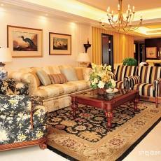 124平米四居客厅欧式装修实景图片欣赏