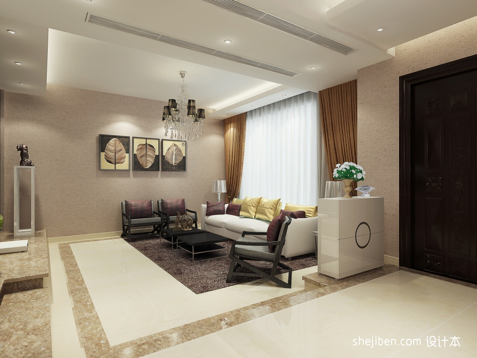 精美面积143平复式客厅混搭效果图片