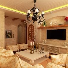 热门132平米四居客厅混搭装饰图片大全