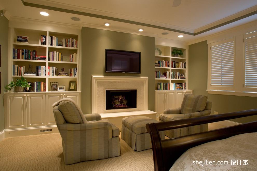 现代简欧客厅电视背景墙设计