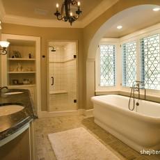 精美面积130平别墅卫生间美式欣赏图