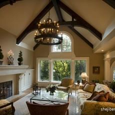 精选别墅客厅美式装修设计效果图