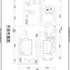 2018面积135平混搭四居客厅装修设计效果图