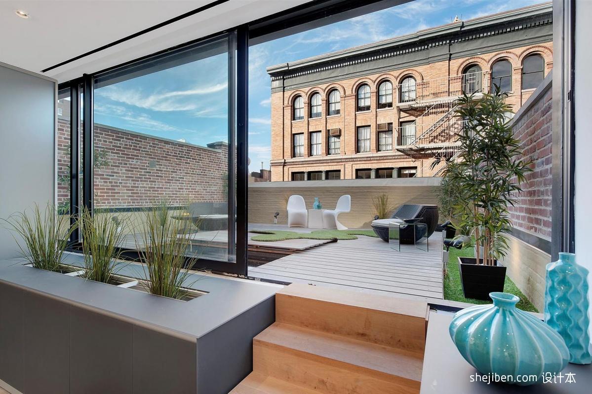 2018现代风格复式楼露天休闲花园装修效果图片