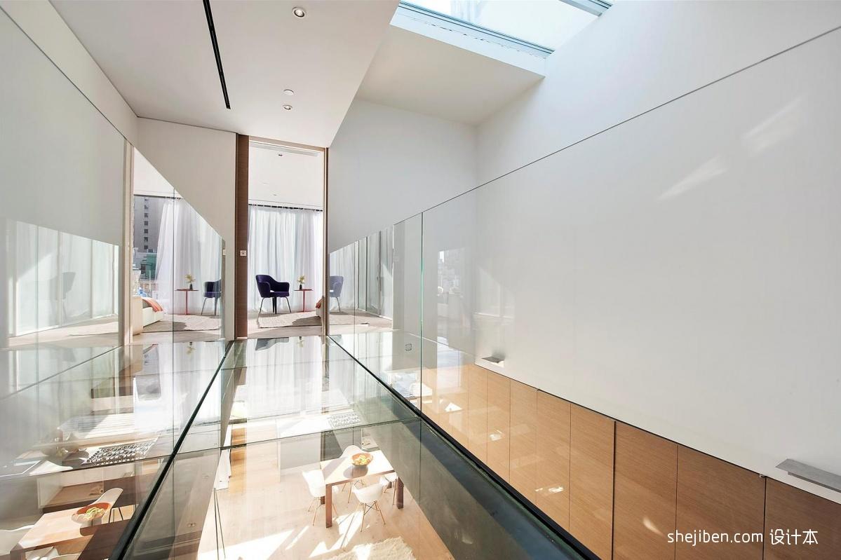 2018现代风格复式家装卧室过道吊顶装修效果图欣赏