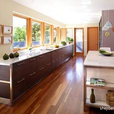 精选现代复式厨房实景图片欣赏