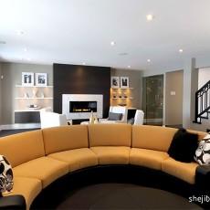 面积134平复式客厅现代设计效果图