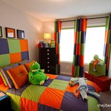 热门面积96平现代三居儿童房装修效果图片