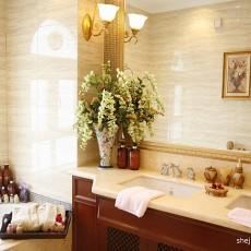 精美美式三居卫生间装修欣赏图片