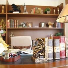 热门三居书房美式装修效果图片