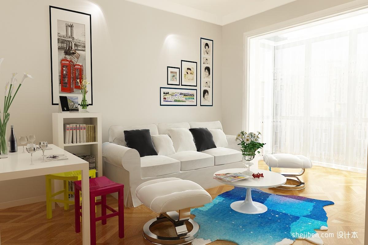 2018精选面积79平混搭二居客厅实景图