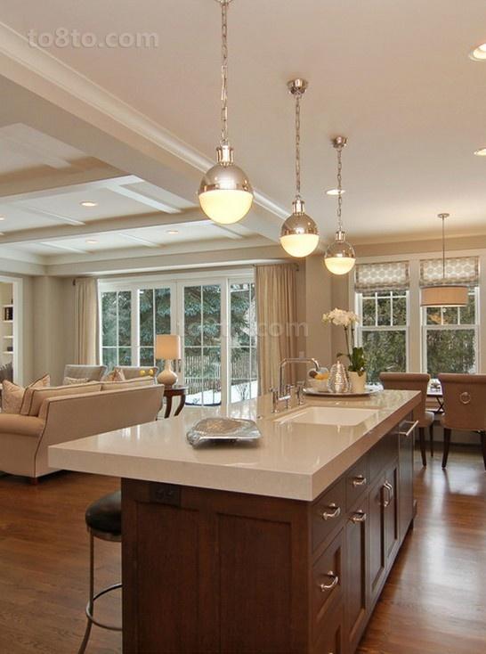 开放式厨房吧台吊顶装修效果图大全2012图片