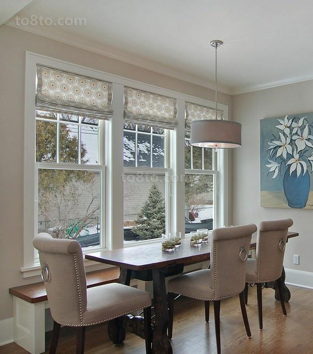 简欧风格靠窗的餐厅装修效果图