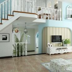 精美面积129平复式客厅地中海装修设计效果图片大全