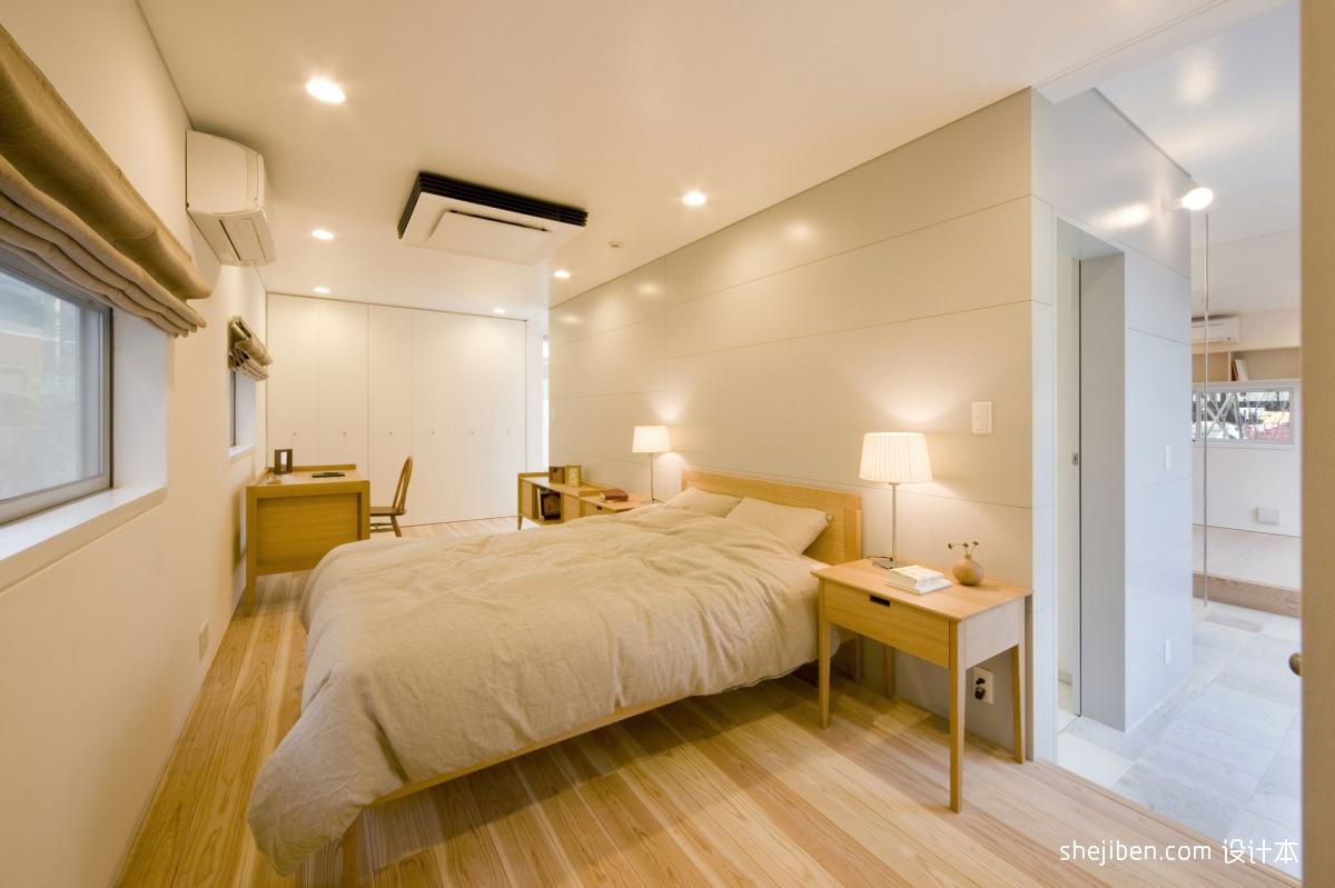 卧室兼书房衣柜床头背景墙装修效果图片