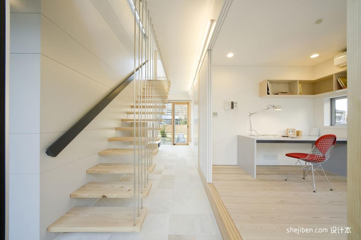 2018现代风格复式楼家装过道装修效果图