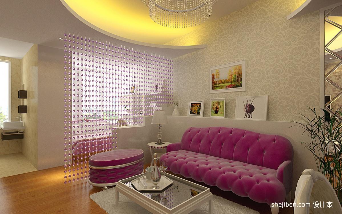 精美70平米混搭小户型客厅装修图片欣赏