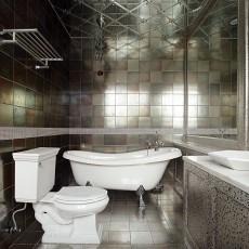 2018115平米欧式别墅卫生间装饰图片