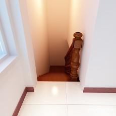 新中式楼梯走道装修效果图