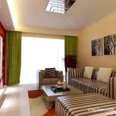 精美大小77平现代二居客厅装修图片