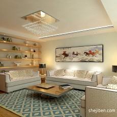 热门面积102平现代三居客厅效果图片