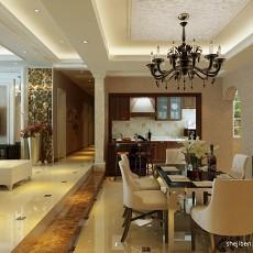 2018面积117平混搭四居客厅装饰图片欣赏