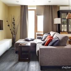 面积71平小户型客厅现代装饰图片欣赏