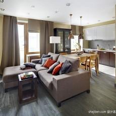 面积86平小户型客厅现代装修设计效果图