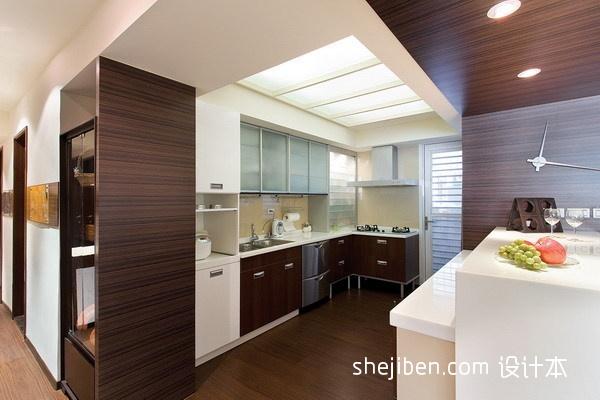 热门103平方三居厨房混搭装修实景图