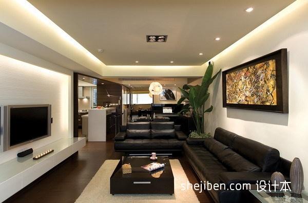 热门混搭3室客厅装饰图片109.24平