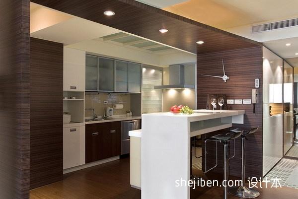 2013家庭装修厨房吧台图片